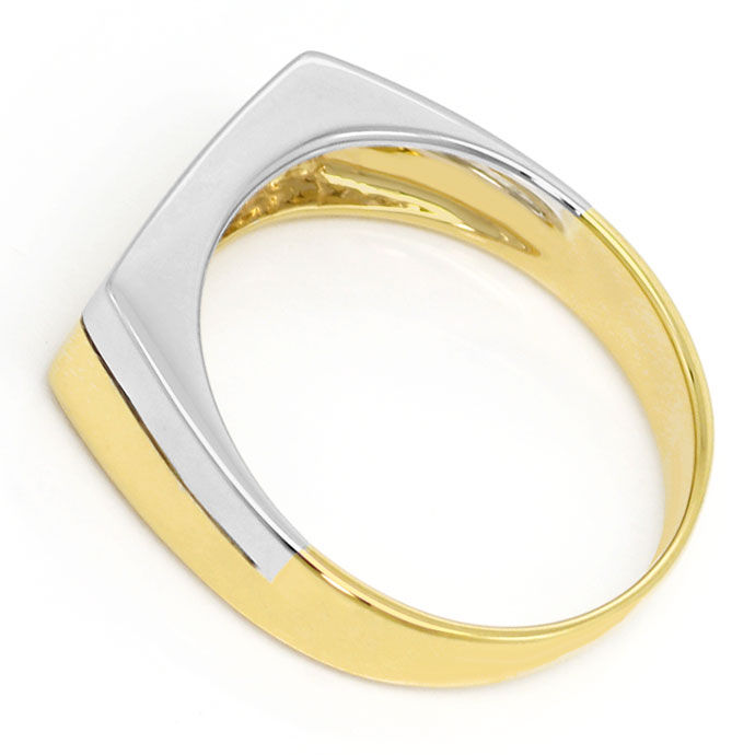 Foto 3, Gold Ring mit 0,06 Carat River Brilliant in 14K Bicolor, S3463
