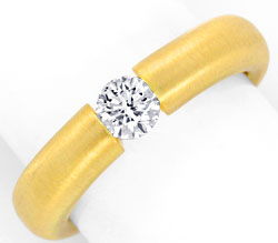 Foto 1, Brilliant-Spannring 0,40ct River-D 18K Gelb-Gold Luxus!, S3471