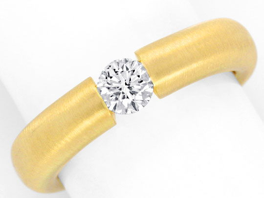 Foto 2, Brilliant-Spannring 0,40ct River-D 18K Gelb-Gold Luxus!, S3471