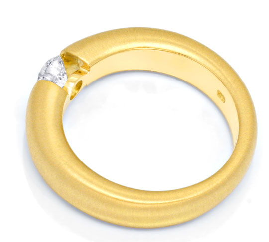 Foto 3, Brilliant-Spannring 0,40ct River-D 18K Gelb-Gold Luxus!, S3471