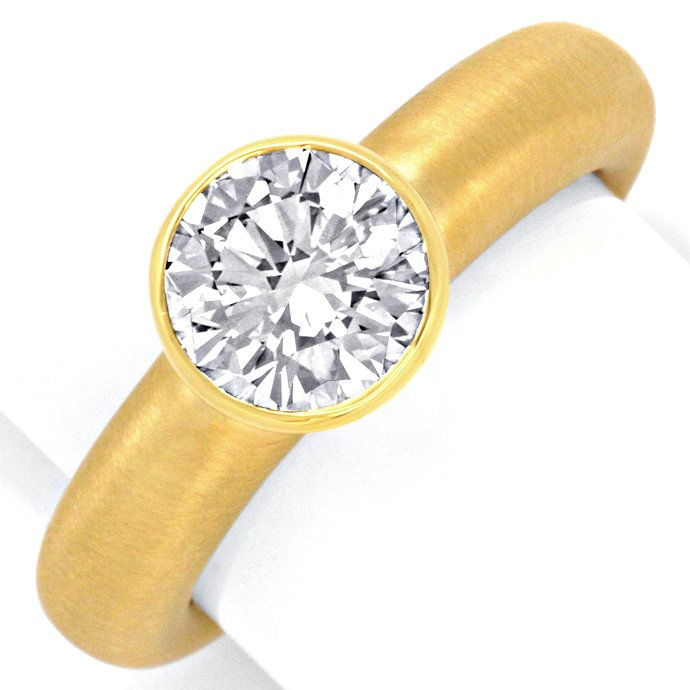 Super Diamant Ring 1,56ct Lupenrein HRD DPL 18K Schmuck, Designer Ring