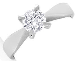 Foto 1, Brillant-Diamantring Weissgold 0,58ct River VVS1 Luxus!, S3545