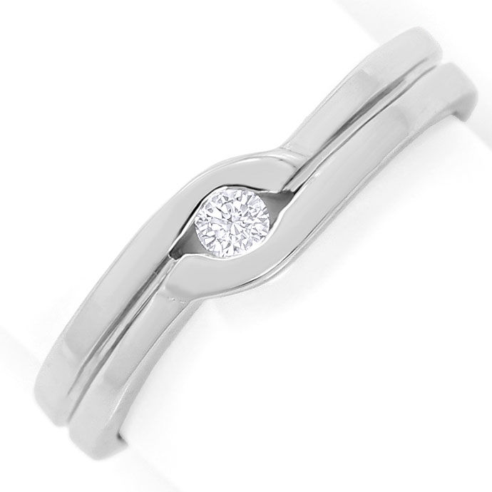 Foto 2 - River Lupenreiner Brillant 0,08ct in Weissgold Ring 18K, S3555