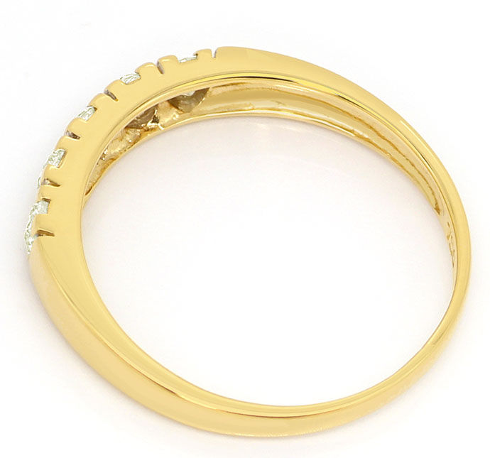 Foto 3, Diamant Halbmemory Ring 0,50ct Brillianten 18K Gelbgold, S3560