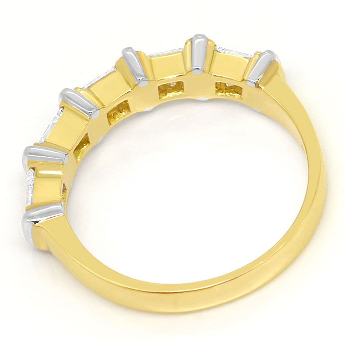 Foto 3 - Lupenreine Princess Diamanten 1,10ct in Halbmemory Ring, S3573