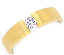 Foto 1, Brillant Diamant Spannring, Gelbgold massiv 0,14ct Shop, S3579