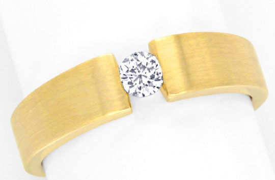 Foto 2, Brillant Diamant Spannring, Gelbgold massiv 0,14ct Shop, S3579