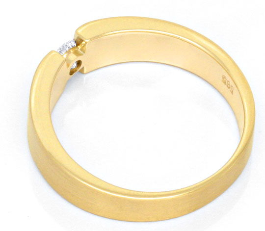 Foto 3, Brillant Diamant Spannring, Gelbgold massiv 0,14ct Shop, S3579