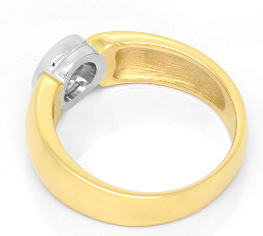 Foto 3, Brillant-Diamant-Ring 0,31ct, Gelbgold Weissgold Luxus!, S3581
