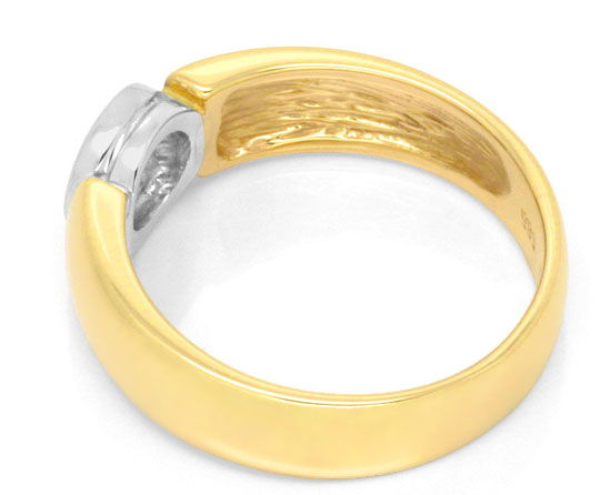 Foto 3, Diamantring 0,27ct Brilliant, Gelbgold Weissgold Luxus!, S3582