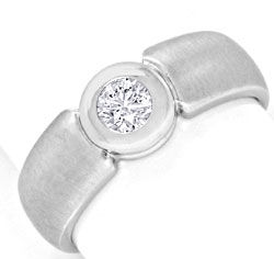 Foto 1 - Brillantring Diamant 0,25ct in 14K Weissgold Luxus! Neu, S3585