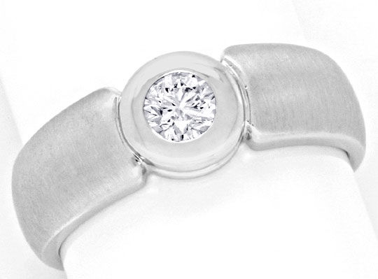 Foto 2 - Brillantring Diamant 0,25ct in 14K Weissgold Luxus! Neu, S3585