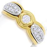 Brillant Diamantring in Gelbgold Weissgold, 21Diamanten