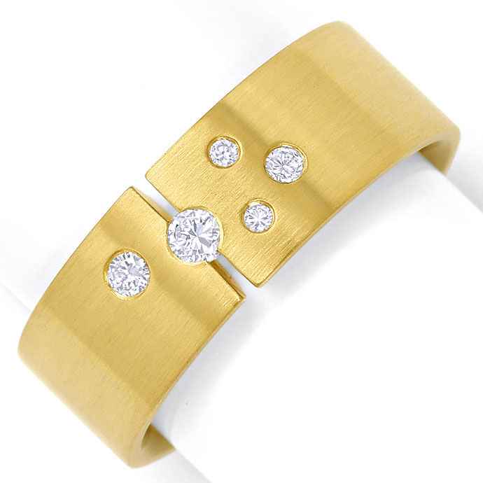 Foto 2 - Extra massiver 18K/750 Herren Brillant Ring in Gelbgold, S3595