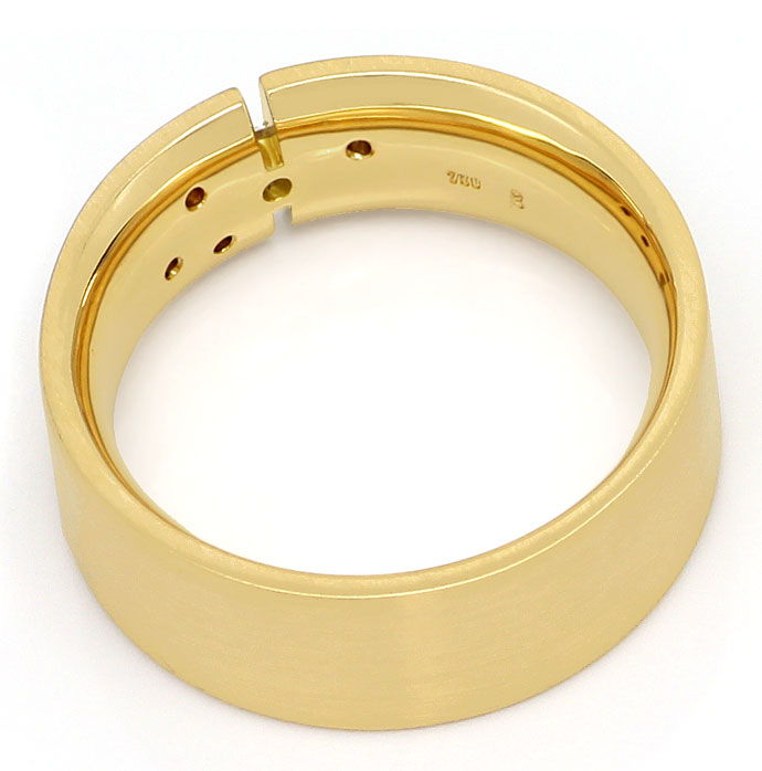 Foto 3, Extra massiver 18K/750 Herren Brillant Ring in Gelbgold, S3595