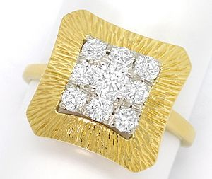Foto 1, Exklusiver Brillanten Ring mit 0,74ct Brillanten in 14K, S3612
