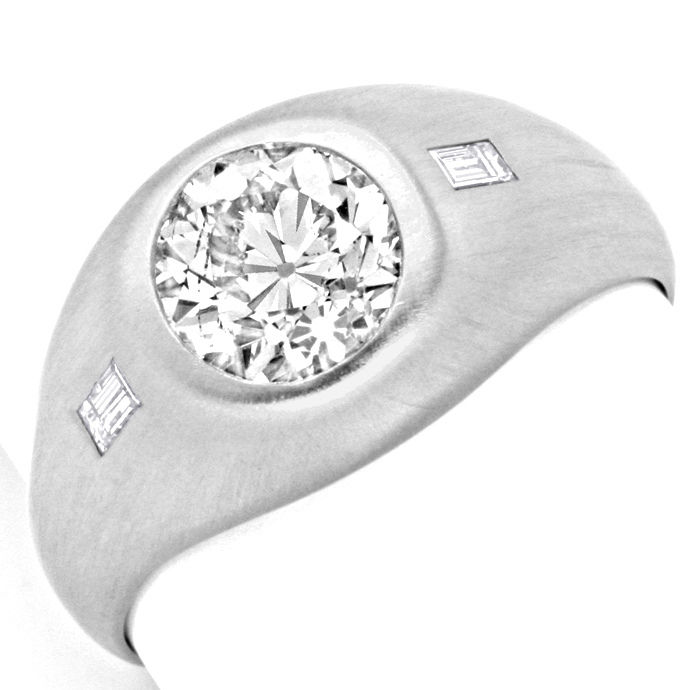Platinring 1,93 Solitär Brillant 0,20 Diamanten Schmuck, Designer Ring