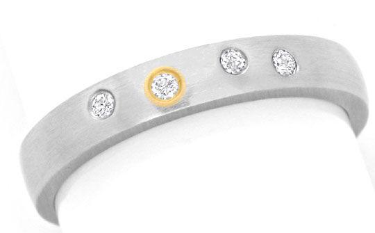 diamant platin ring mit brillanten gold einlage luxus s3651. Black Bedroom Furniture Sets. Home Design Ideas
