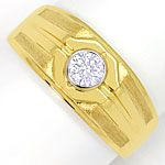 Herren Ring mit 0,38 Carat Brillant Solitär in 18K Gold