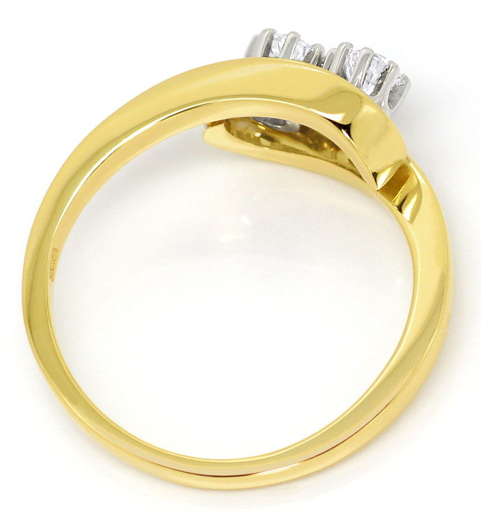 Foto 3, Goldring mit 0,34ct Lupenreinen Brillianten in 14K Gold, S3681
