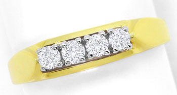 Foto 1, Brillanten Ring mit 0,24ct River Lupenrein 14K/585 Gold, S3694