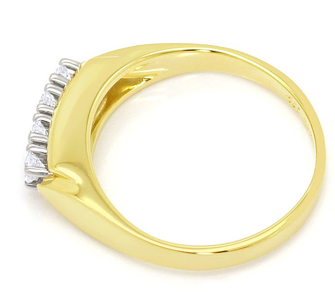 Foto 3, Brillanten Ring mit 0,24ct River Lupenrein 14K/585 Gold, S3694