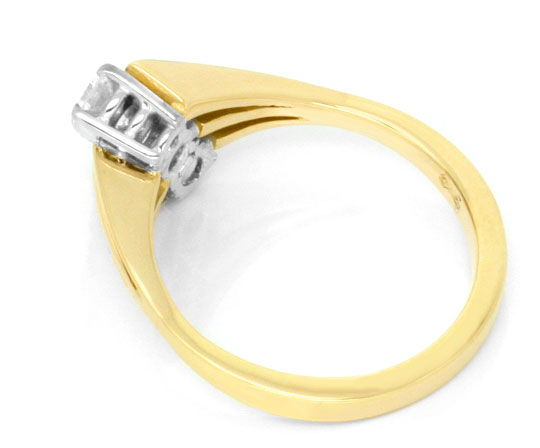 Foto 3 - Brillantgoldring Gelbgold Weissgold 0,62ct River Luxus!, S3711