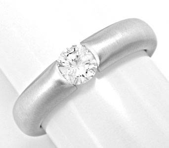 Foto 1, Brillant-Diamant-Spann-Ring 0.39 River-D 18K Luxus! Neu, S3722