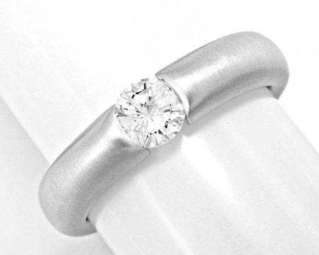 Foto 2, Brillant-Diamant-Spann-Ring 0.39 River-D 18K Luxus! Neu, S3722