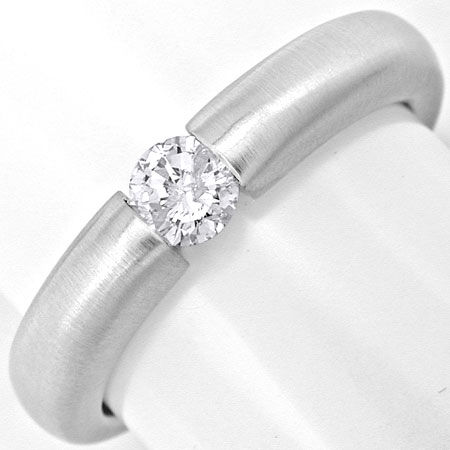 Foto 2, Brillant Diamant Spann Ring 0.25ct River 18K Luxus! Neu, S3723