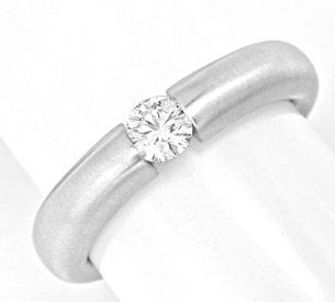 Foto 1, Brillant Diamant Spann Ring 0.26ct F SI1 18K Luxus! Neu, S3724