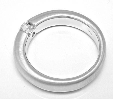 Foto 3, Brillant Diamant Spann Ring 0.26ct F SI1 18K Luxus! Neu, S3724