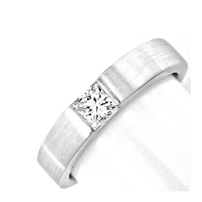 Diamantring Princess Schliff River Lupenrein Luxus! Neu, Designer Ring