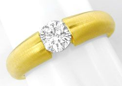 Foto 1, Brillant Diamant Spann Ring 0,67ct River 18K Luxus! Neu, S3728