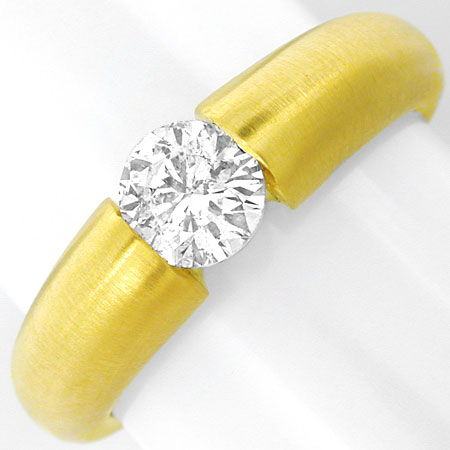 Foto 2, Brillant Diamant Spann Ring 0,67ct River 18K Luxus! Neu, S3728