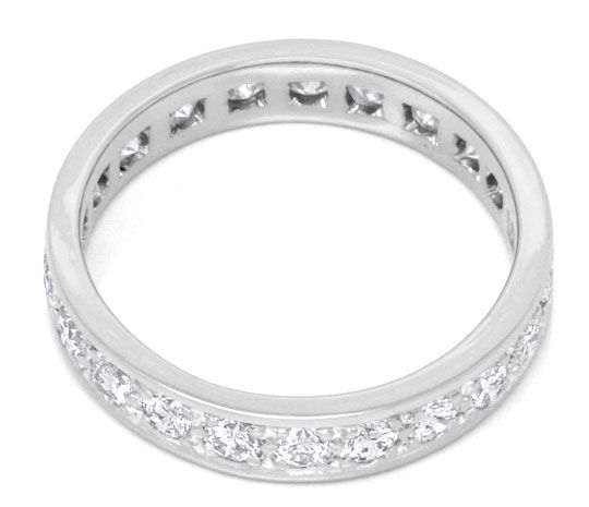 Foto 3, Platin Brillant Vollmemory Ring 1,47ct Diamanten Luxus!, S3750