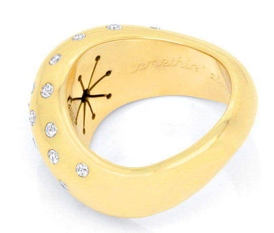 Foto 3, Top Design Diamant Ring 0,97ct 18 Karat Gelbgold Luxus!, S3771