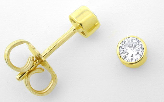 Foto 1, Brillanten-Diamanten-Ohrstecker-Ohrringe 14K Luxus! Neu, S3797