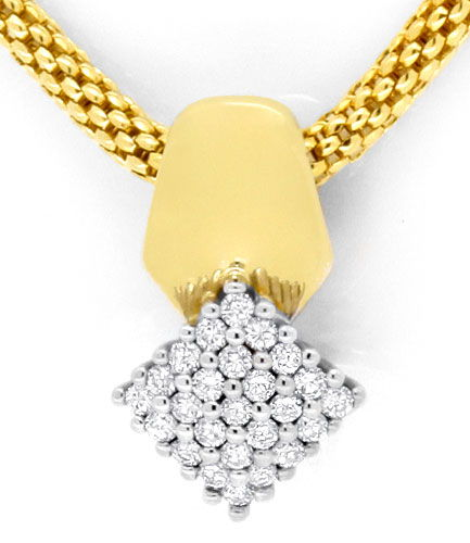 Foto 2, Brillant-Designer-Collier 0,52ct River Lupenrein Luxus!, S3803