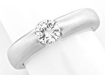 Foto 1 - Brillant Spann Ring, Diamant 0,44 River VVS Luxus! Neu!, S3817