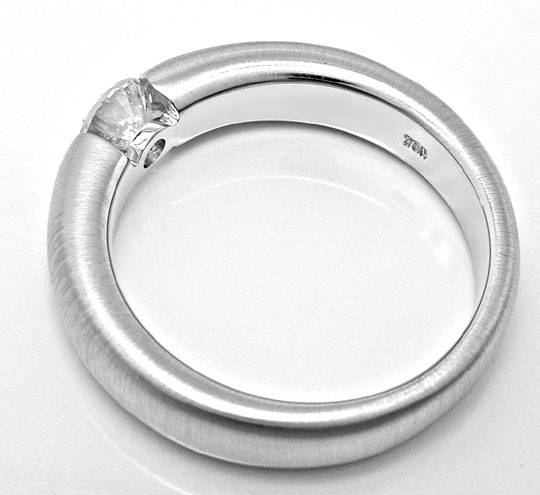Foto 3, Brillant Spann Ring, Diamant 0,44 River VVS Luxus! Neu!, S3817