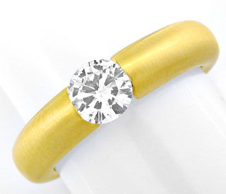 Foto 1, Diamant Spann Ring, Brillant 0,57ct 18K Gelb Luxus! Neu, S3818