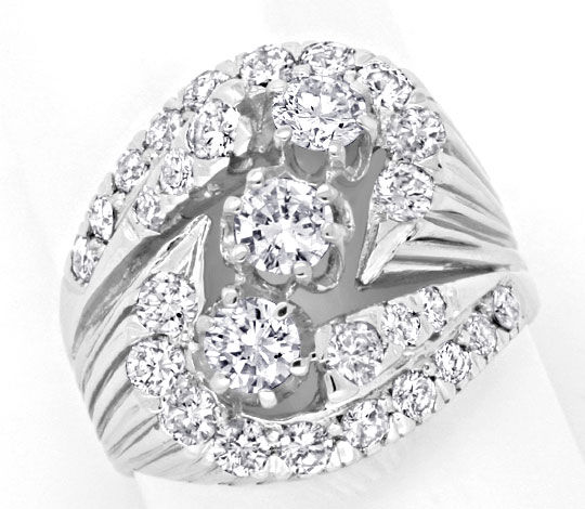 Foto 2, Toller Diamantenring mit 2,05ct Brillanten in Weissgold, S3828