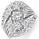Toller Diamantenring mit 2,05ct Brillanten in Weissgold