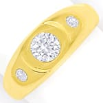 Lupenreiner 1ct Brillant und 0,2ct in Herrengoldring