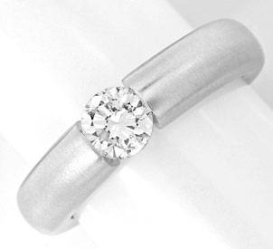 Foto 1, Brillant Spann Ring Diamant 0,50ct 18K Weissgold Luxus!, S3856