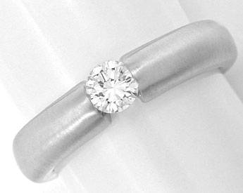 Foto 1, Brillant-Spann-Ring Diamant 0,29ct Lupenrein Luxus! Neu, S3857