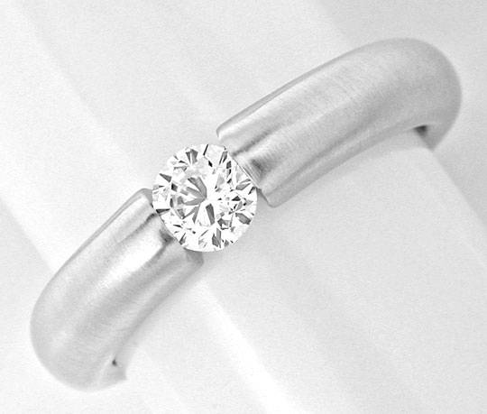 Foto 2 - Brillant Spann Ring Diamant 0,33ct 18K Weissgold Luxus!, S3858