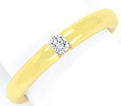 Foto 1, Brillant Spannring 0,10ct Brillant massiv Gelbgold Shop, S3863