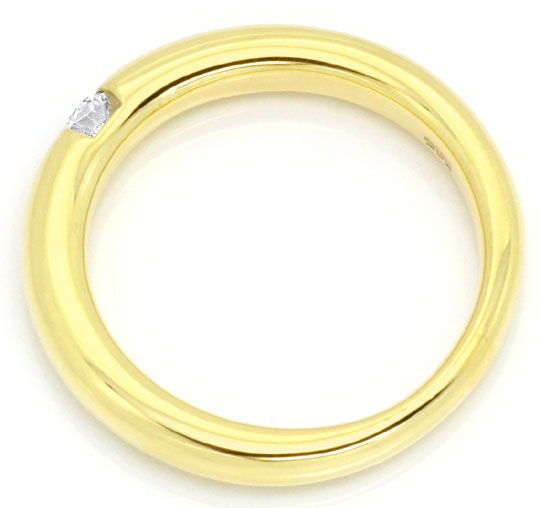Foto 3, Brillant-Spannring 0,10ct Brillant massiv Gelbgold Shop, S3863